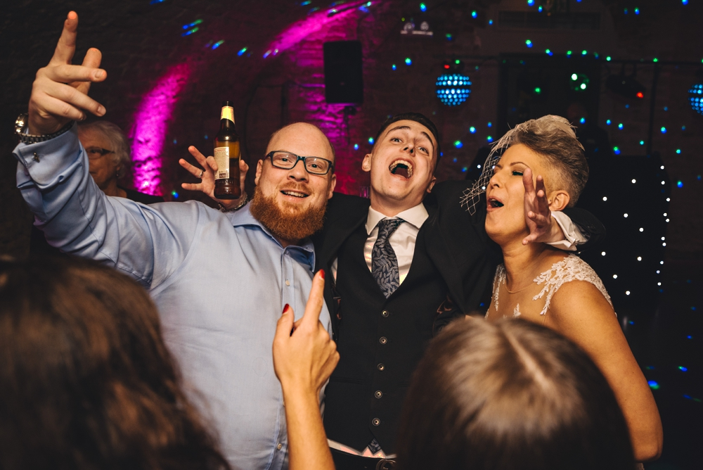 Wedding guests formal shot wedding day
