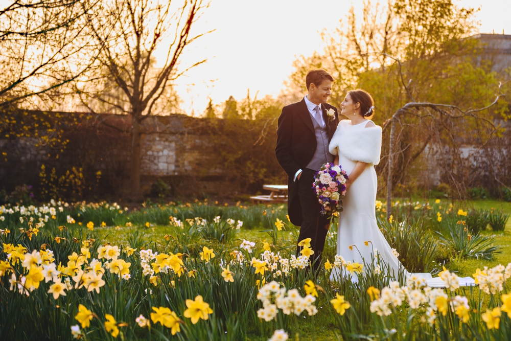 Bride and Groom Garden in Peterhouse college