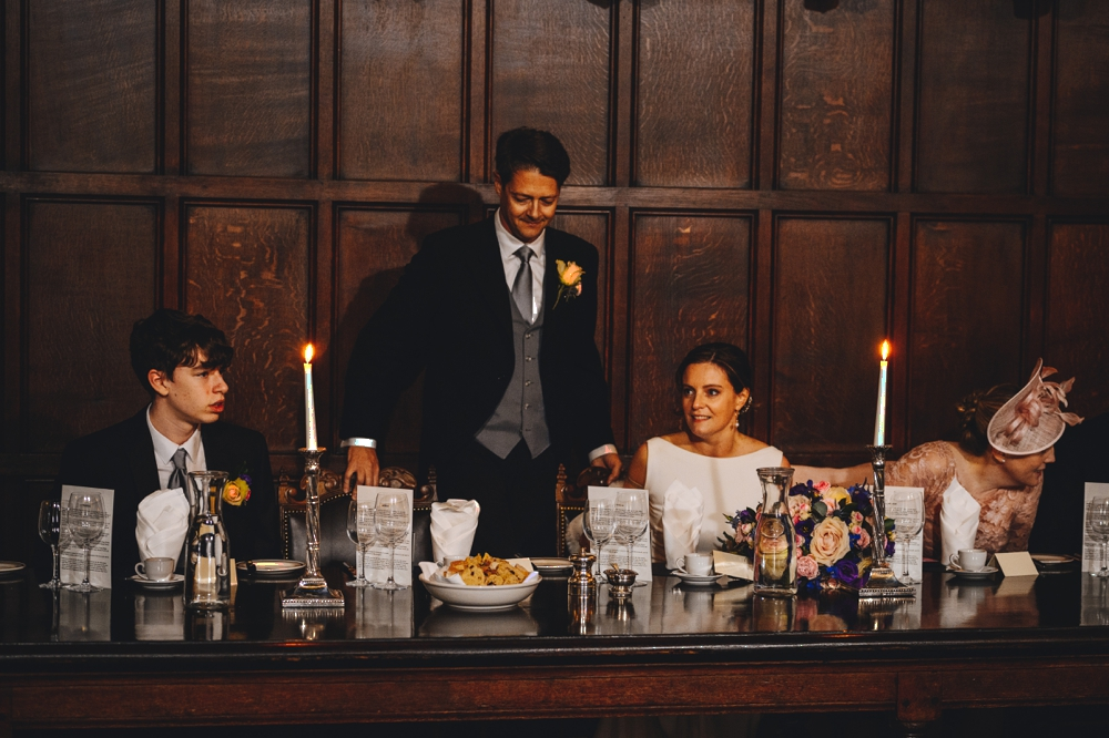 Grooms Speech at top table