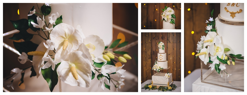 Bespoke handmade cake with sugar flowers