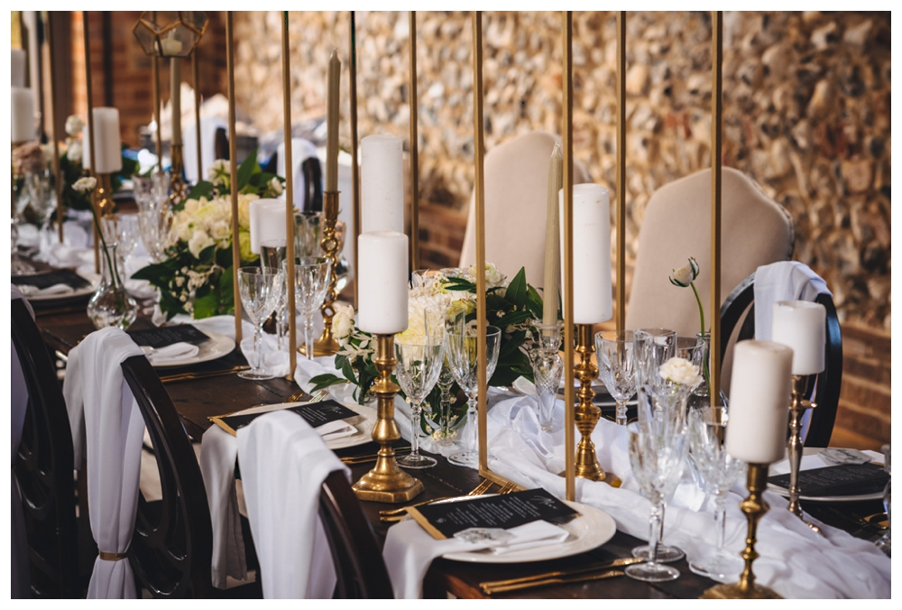 Decorated tablescape
