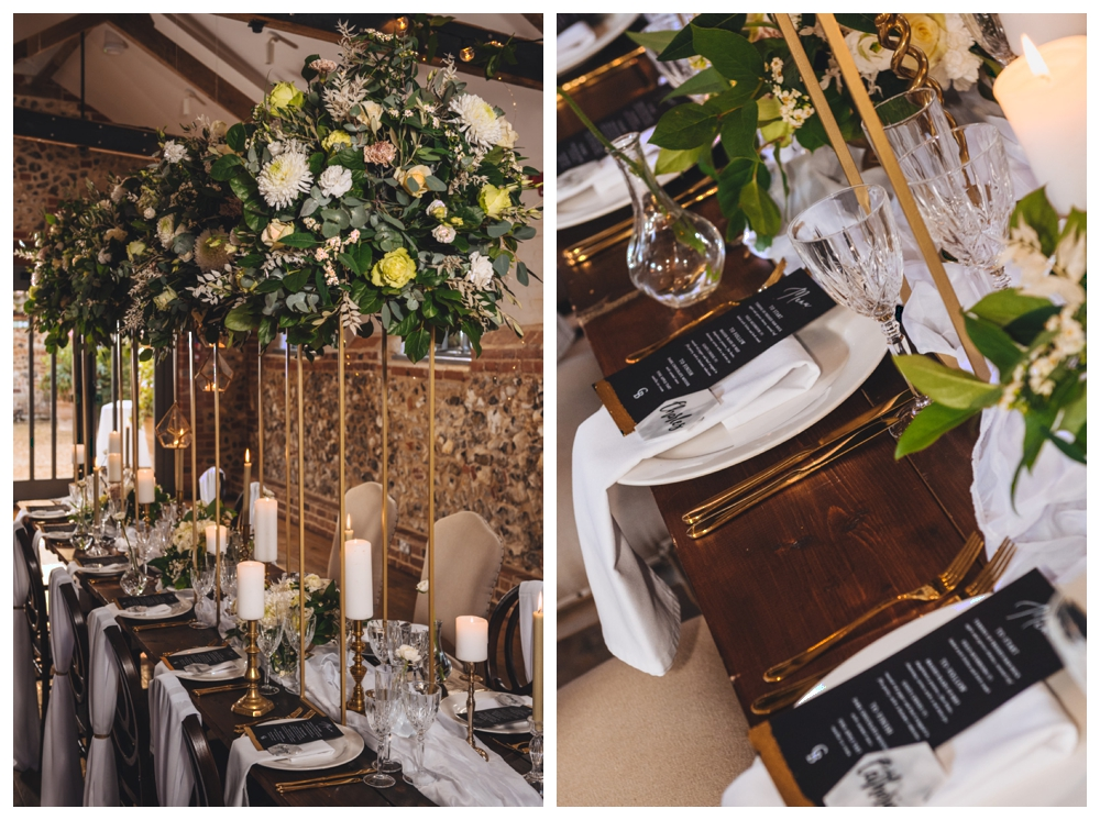 Tablescape decorated table