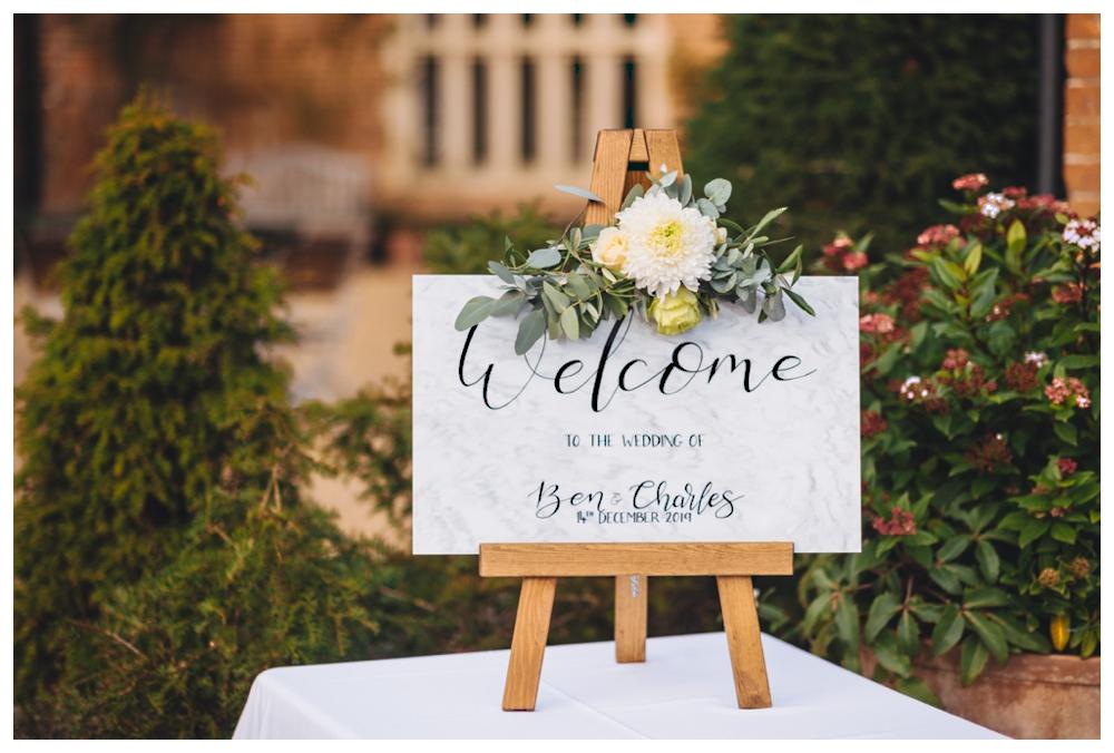Bespoke welcome sign