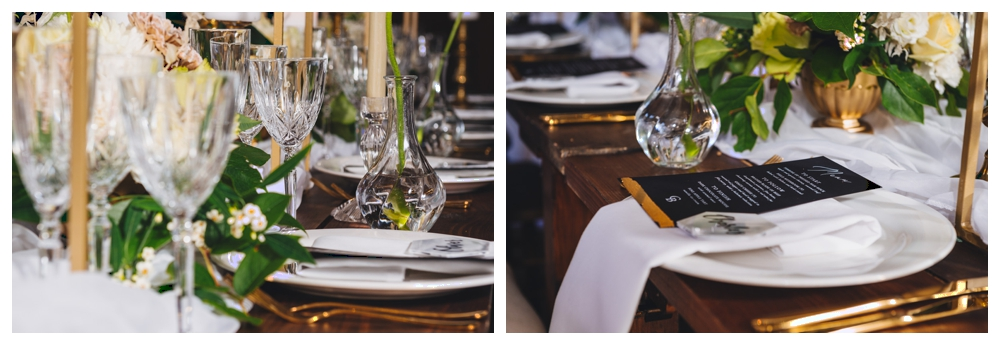 Bespoke stationery and tablescape