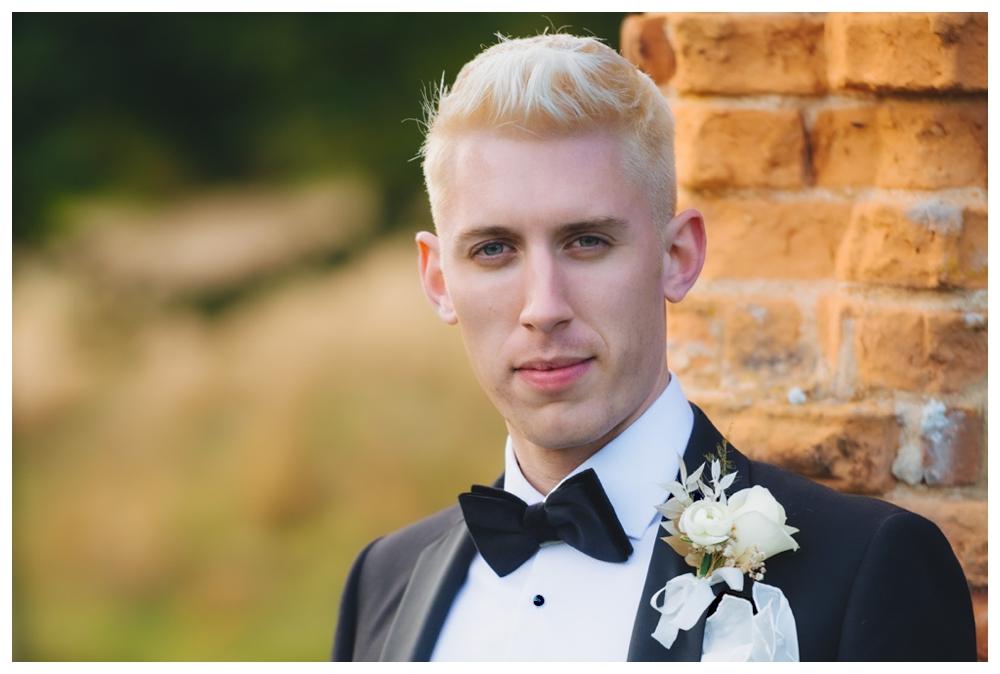 Headshot of groom