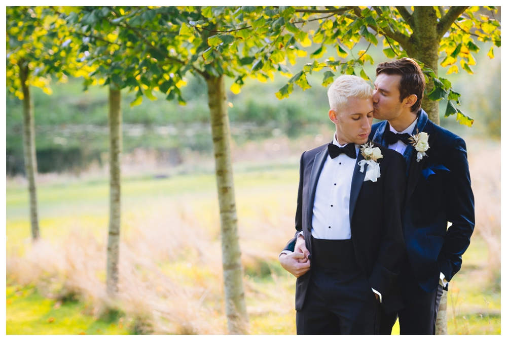 Male couple formal photo