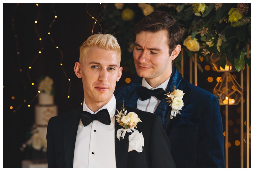 Fomal couple shot same sex wedding