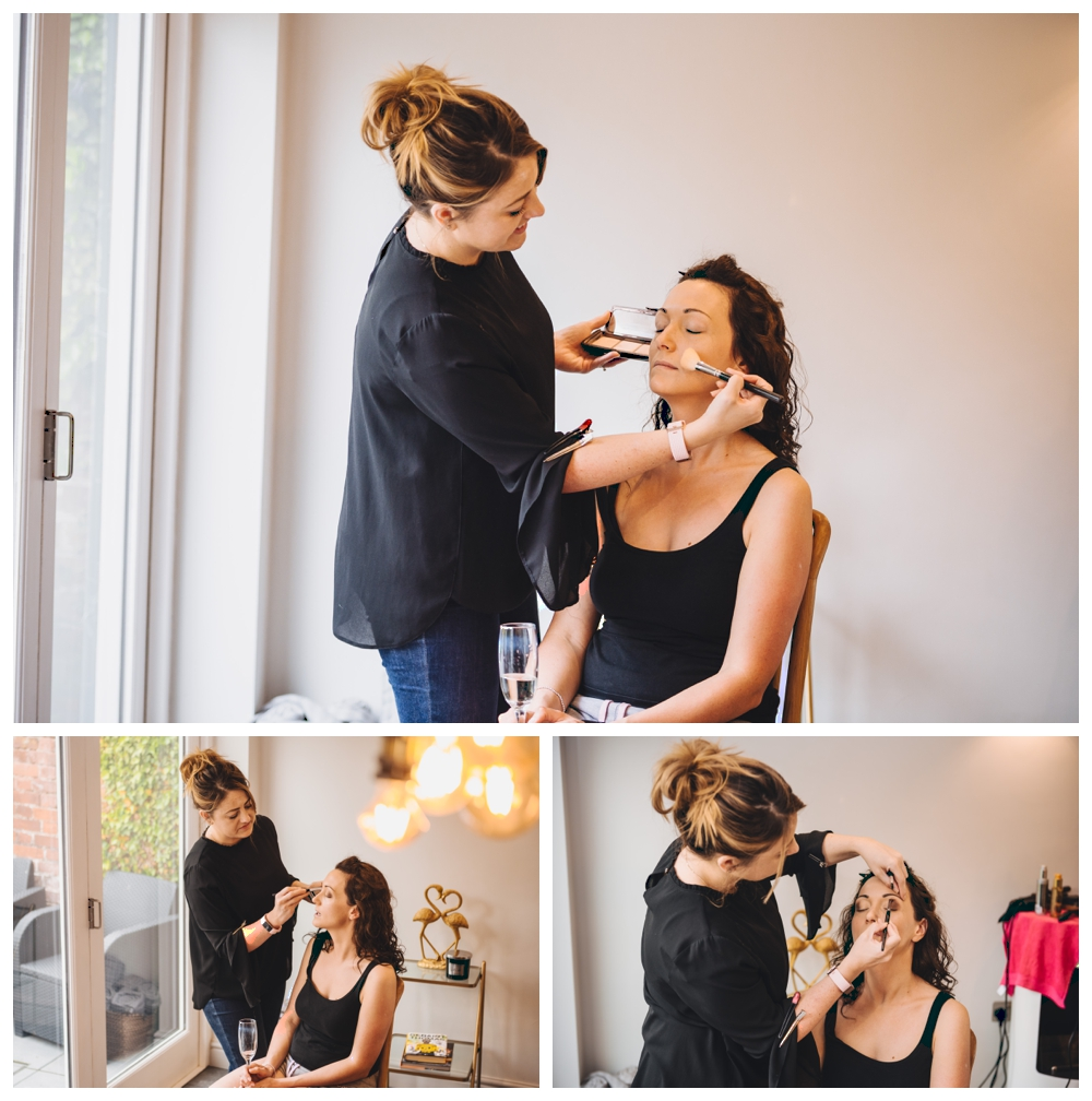 Bridal preparation Make up