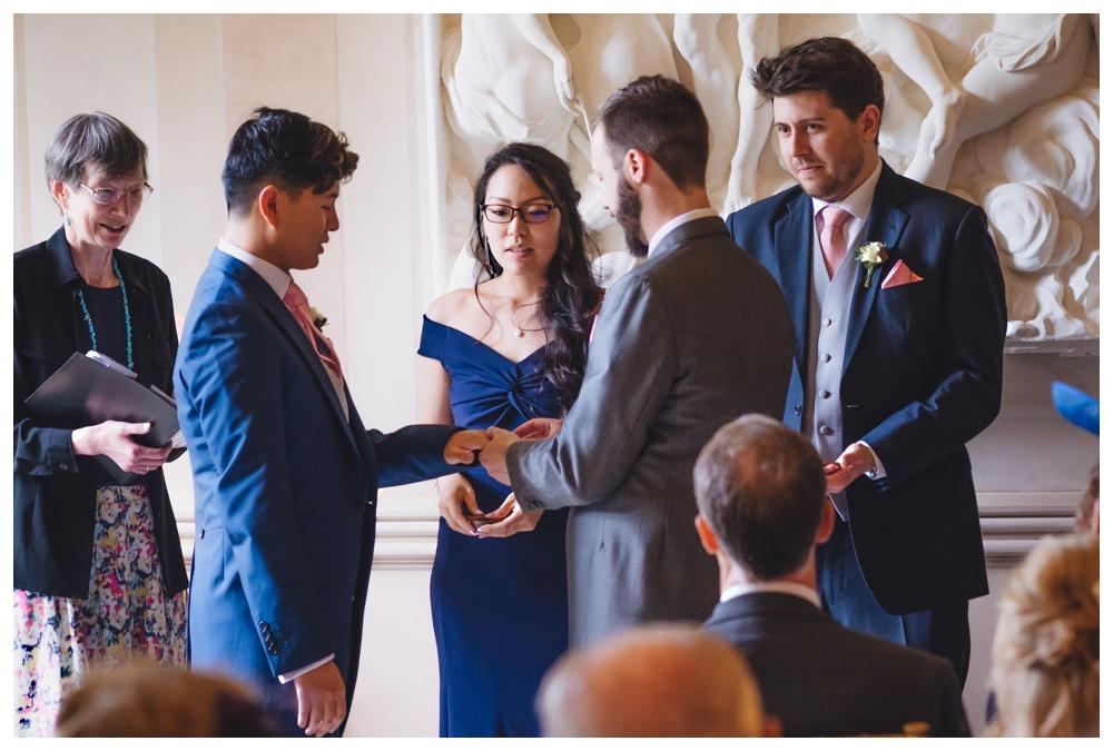 Exchange Of Rings Same Sex Wedding