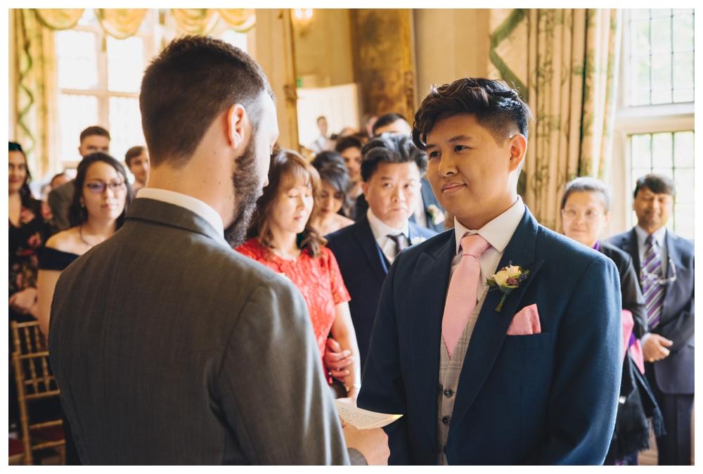 Same sex couple formal photo wedding day