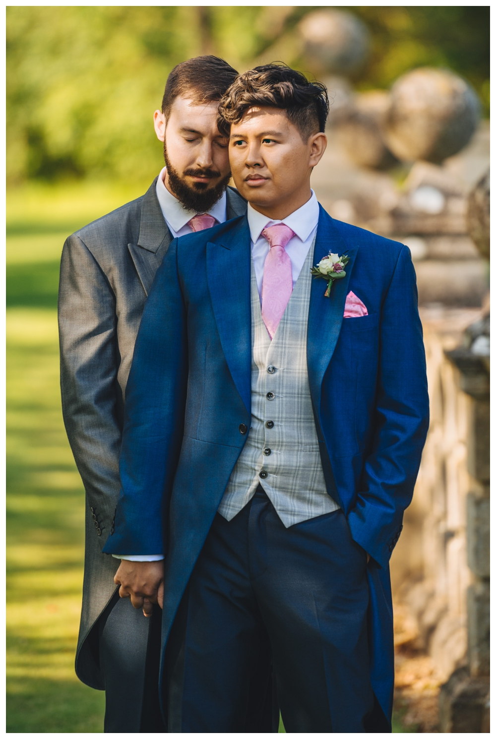 Same sex couple formal photo wedding day