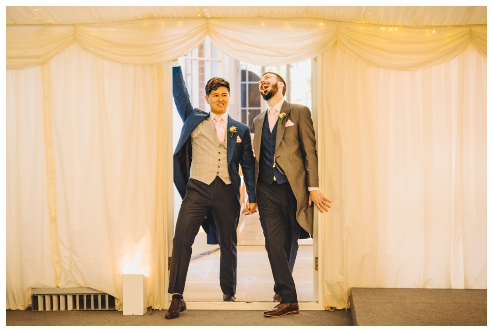 Grooms Entrance into Marquee