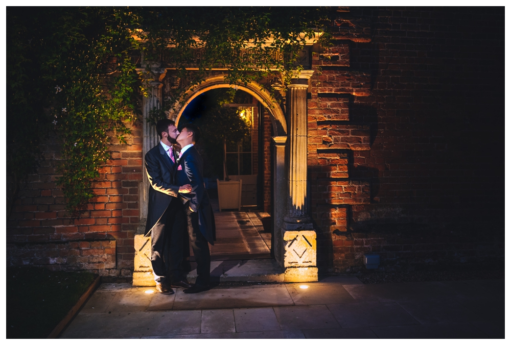 Night Time Shot Two Grooms