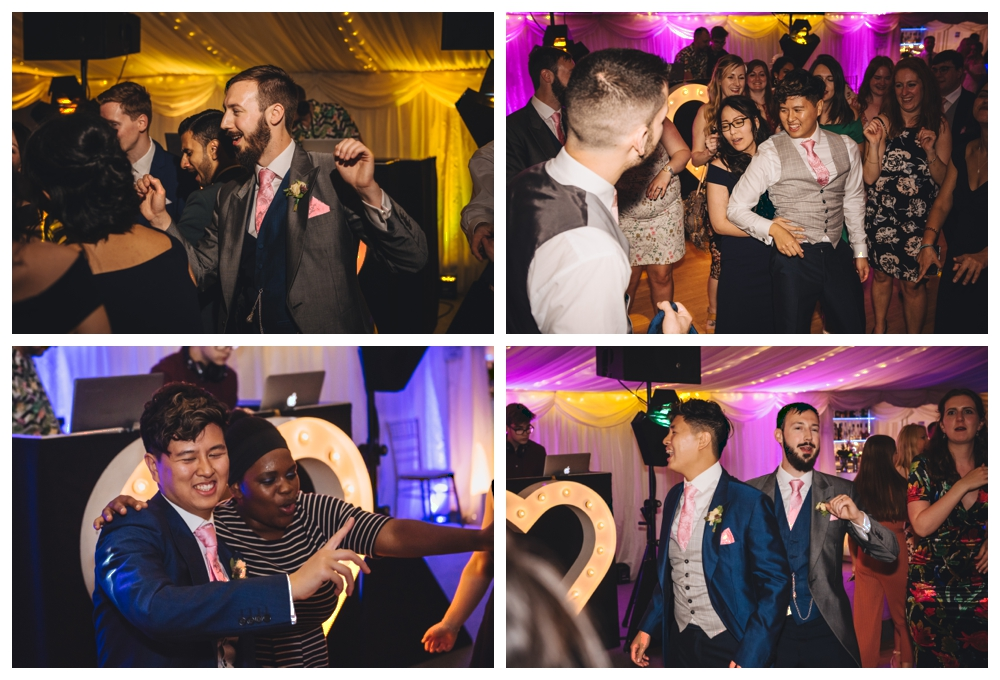 Dance Floor Two Grooms and Guests