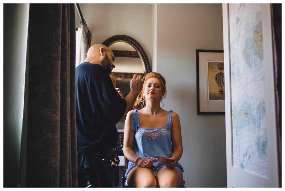 Bridal Prep at the The Crown Wells Next The Sea