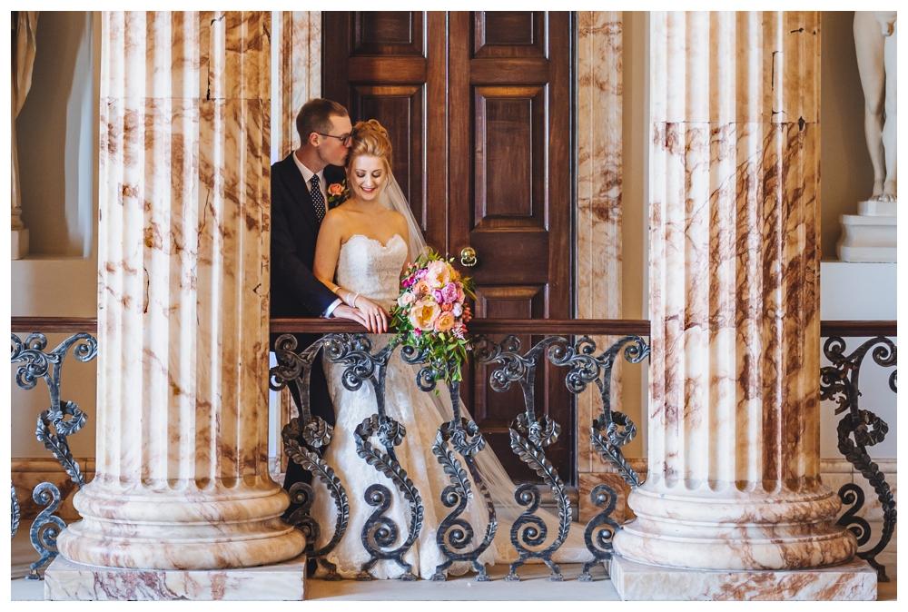 Bride and Groom Holkham Hall Norfolk
