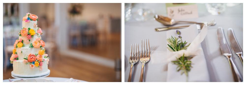 Place Setting and Wedding Cake Holkham Hall