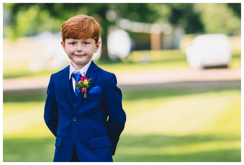 Pageboy Holkham Hall Midsummer Wedding