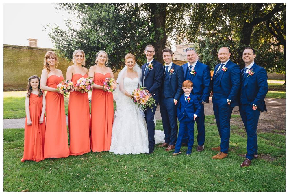Wedding Party Holkham Hall Norfolk