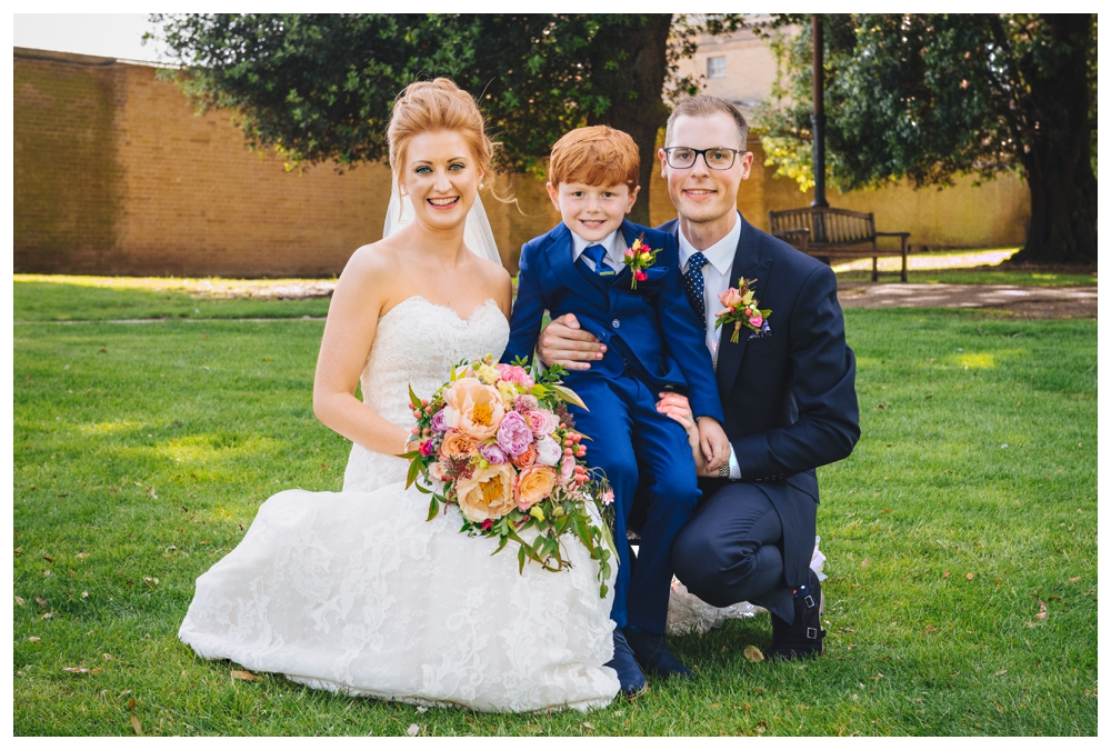 Bride and Groom With Pageboy